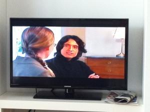 Jag och Jonas Hassen Khemiri i tv-rutan