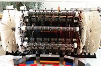 Från utställningen om centrat, ett instrument i liten skala uppbyggt i lego